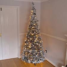 200 warm white christmas tree lights 7ft large quick pop up christmas tree pre decorated with 200 warm