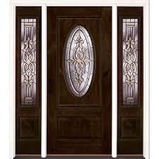 single door with sidelites front doors exterior doors the