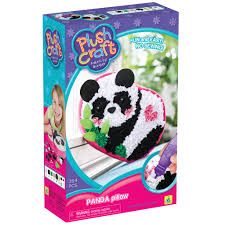 shop for the plushcraft fabric by number panda pillow kit at michaels