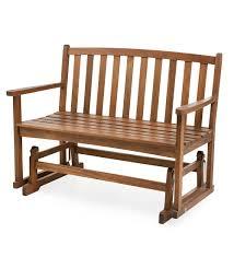 eucalyptus wood love seat glider furniture plow