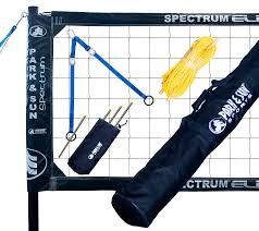 unique sports park u0026 sun spectrum elite volleyball net system