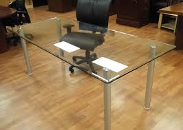 Glass Top Conference Table 6ft 8ft Glass Conference Table With A Clear Glass Top