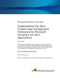 microsoft dynamics ax 2012 implementing item product data