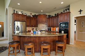 Half Round Kitchen Rugs Nice Looking Half Round Wooden Kitchen Island With White Ceiling