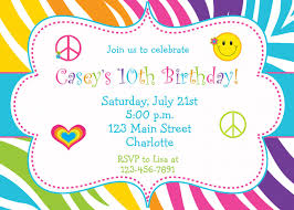 birthday party invite which various color combination thewhipper com