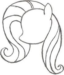 coloring page alluring simple pony drawing my little female body