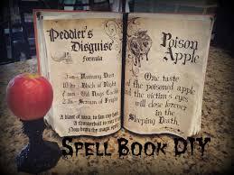 halloween spell book book of shadows tutorial youtube