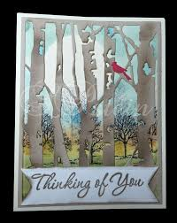 45 best sizzix birch trees images on cards