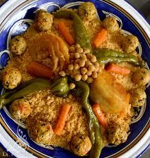 recette cuisine couscous tunisien coucous aux légumes et boulettes de poulet
