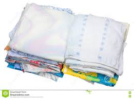pile of the old bed linen stock photo image 76546555