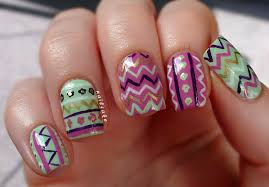 nail cake zig zags floral tribal mish mash