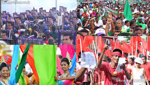 Unp Thondaman Update Major May Day Rallies Begin Upfa May Day Supporters Also
