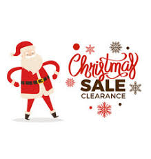 christmas clearance christmas clearance sale poster with merry santa vector image