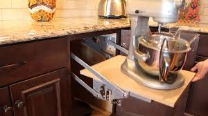 Kitchen Appliance Lift - mixer lift cabinet haas cabinet youtube