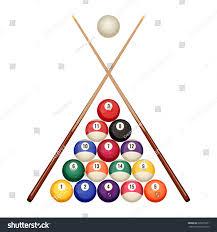 Pool Billiard Balls Starting Position Two Stock Vector