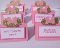 minnie mouse card table mouse food etsy