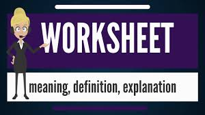 Spreadsheet Definition What Is Worksheet What Does Worksheet Mean Worksheet Meaning