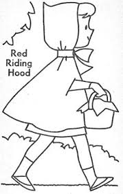 red riding hood coloring red riding hood worksheets fairy