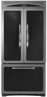 black and white appliance reno heartland classic 36 refrigerator in black also available in