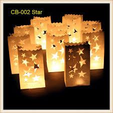 50pcs lot retardant paper white candle bags luminaire