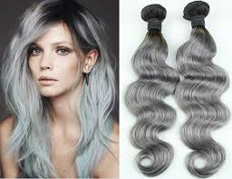 can ypu safely bodywave grey hair 3bundles malaysian gray hu man hair weaving ombre white color