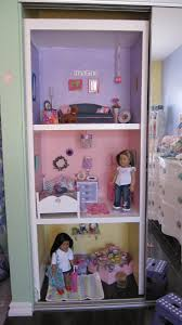 How To Make A Dollhouse Out Of A Bookcase American Doll House Using Closet Space I Totally Have Room