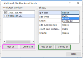 how to quickly count the number of hidden worksheets in excel