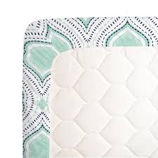 mint and navy moroccan damask crib sheet carousel designs