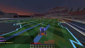 minecraft sports car 1 8 7 rocket league in minecraft map