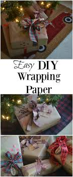 custom wrapping paper easy diy wrapping paper