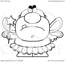 tooth fairy coloring page cartoon clipart of a black and white mad male tooth fairy vector