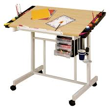 Creation Station Studio Desk by Studio Designs Deluxe Rolling Drafting Table Station Hayneedle