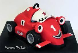 red racing car cake verusca deviantart