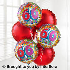 birthday helium balloons 60th birthday helium balloon bouquet flowers by elaine dorking