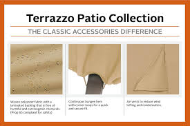 Patio Classic Charcoal Grill by Amazon Com Classic Accessories 53912 Ec Terrazzo Grill Cover