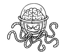 Mechanical Brain Coloring Page Coloringcrew Com Brain Coloring Page