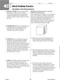 algebra 2 practice problem solving workbook answers 28 images