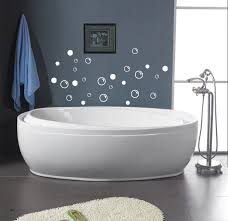 amazing interior for fun bathroom ideas with bubles wall decor