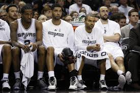 basketball player on bench top 5 frontcourts in the nba are spurs no 1