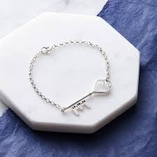 Personalized Silver Bracelets Personalised Silver Key Bracelet By Sarah Lawrence Jewellery