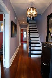 Staining Stair Banister Dark Handrail With Cherry Floor Seriously Considering Painting Or