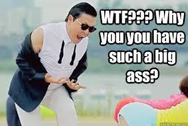 Big Ass Memes - psy why do you have a big ass memes quickmeme
