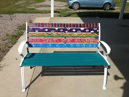 painted garden bench ideas photograph painted bench gard painted