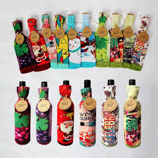 christmas wine bottle cover bags for christmas decorations kids