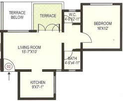elegant 1bhk apartment floorplan design