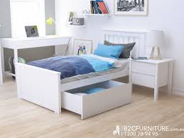 Contemporary Kids Bedroom Suites Priced In All White Coloured - Childrens bedroom furniture melbourne
