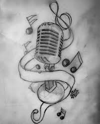 outline star and music tattoos on arm for guys photo 2 2017