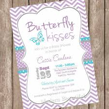 How To Make Baby Shower Invitation Cards Purple Butterfly Baby Shower Invitations Kawaiitheo Com