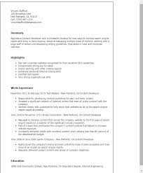 Sample Resume For Assembly Line Worker by Professional Content Developer Templates To Showcase Your Talent