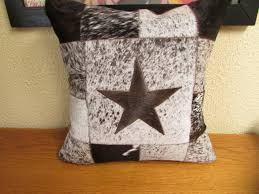 western star home decor pair of sampler star cowhide pillows western home decor 461
